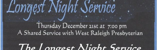 Longest Night Service at West Raleigh
