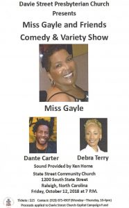 Miss Gayle and Friends Comedy & Variety Show @ State Street Community Church
