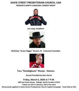 Davie Street Presbyterian Comedy Night @ Davie Street Presbyterian Church